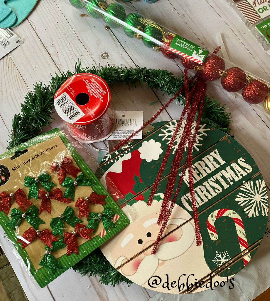 Dollar tree rustic Christmas wreath
