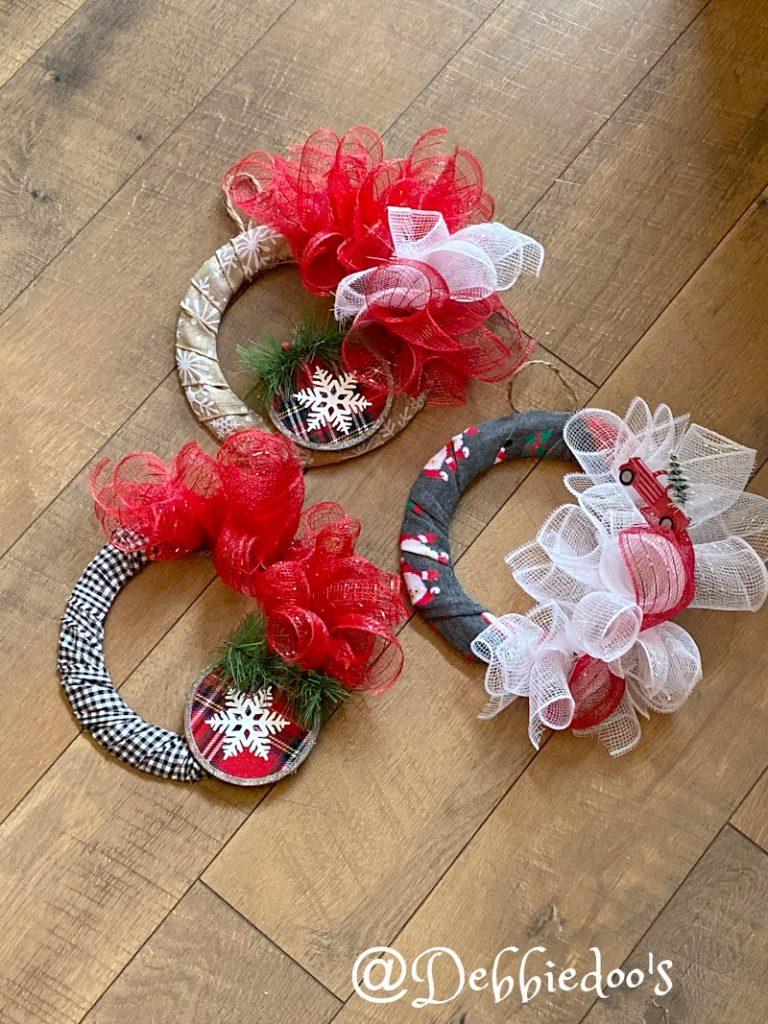 Dollar Tree Mini Christmas Wreaths