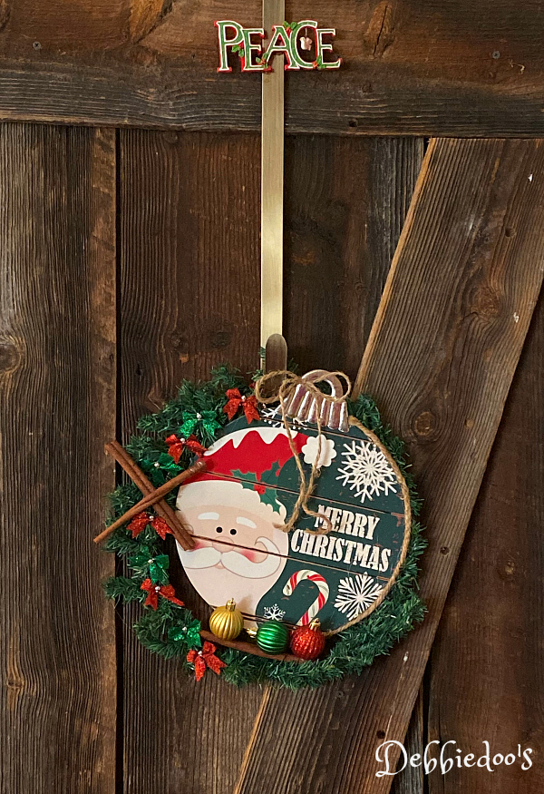 Dollar tree Christmas wreath