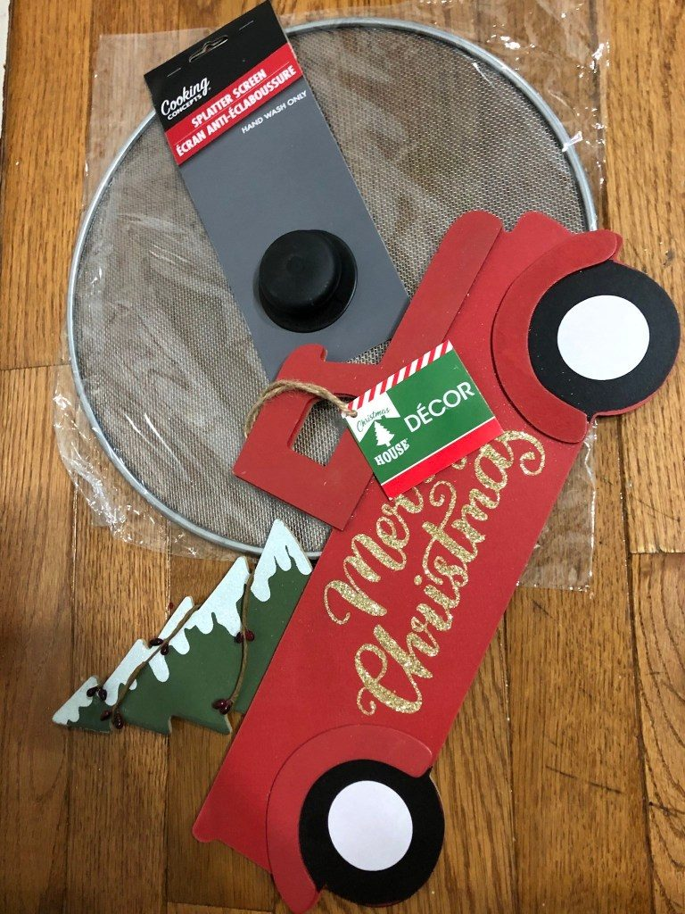 Dollar Tree Christmas Splatter Screen Wreath