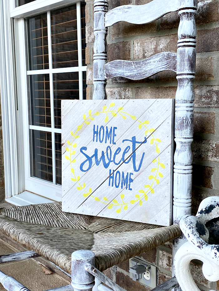 Home Sweet Home DIY rustic farmhouse sign