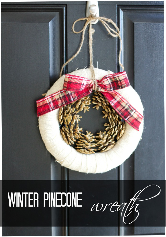 How to make a pine cone wreath for winter