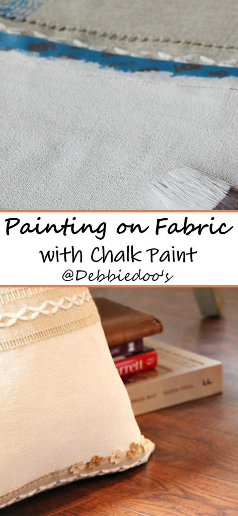 How to paint on fabric chalk paint