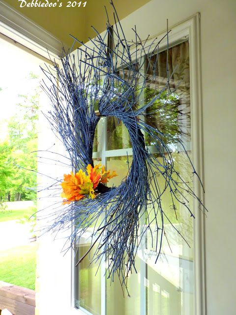 Twine wreath spray painted for every season