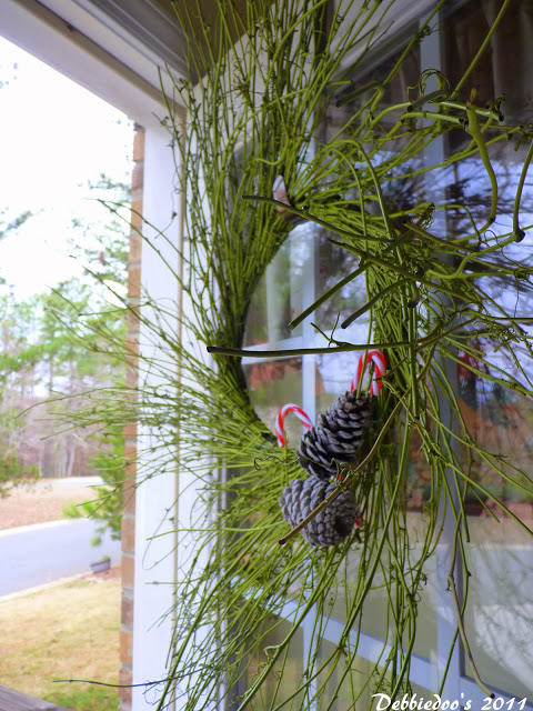 Twine and twig wreath spray painted for each season
