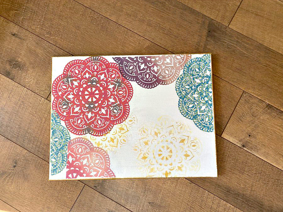 How to mod podge doilies
