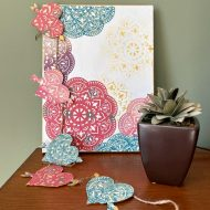 Boho heart swag made with dollar tree hearts