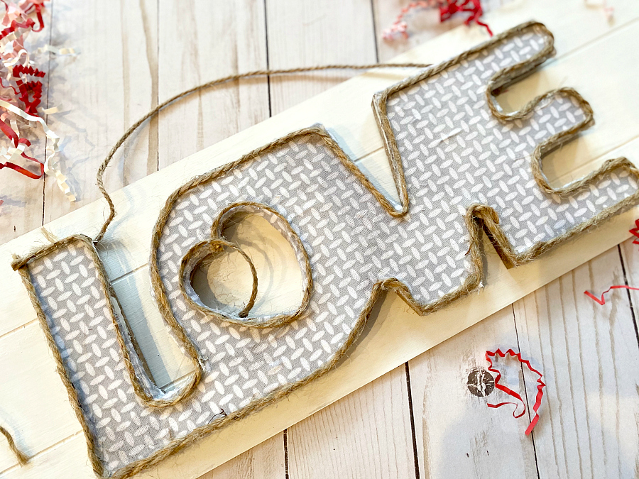 Dollar tree love signs makeover