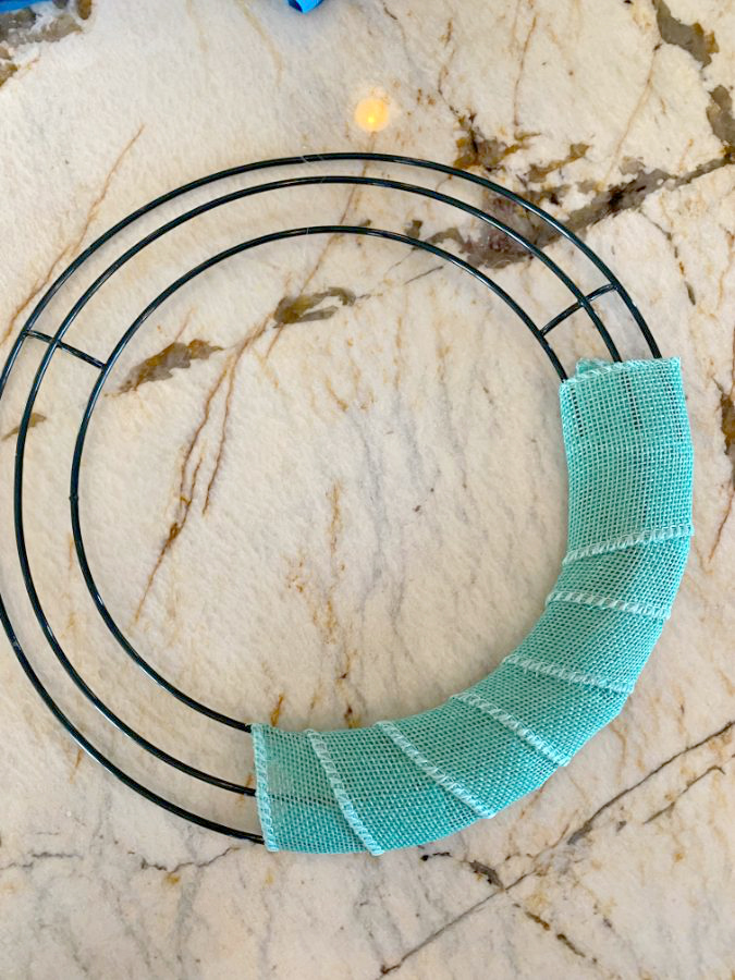 Dollar tree wire wreath form and how to make cute mini wreaths