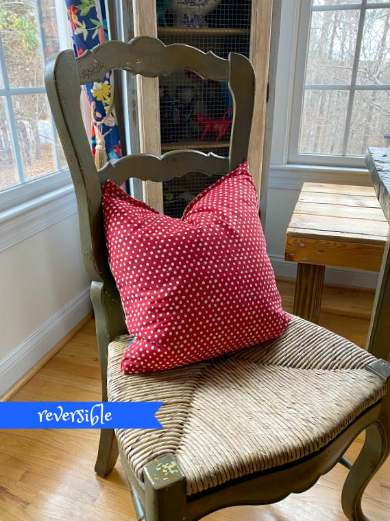 Pioneer woman reversible pillow using napkins