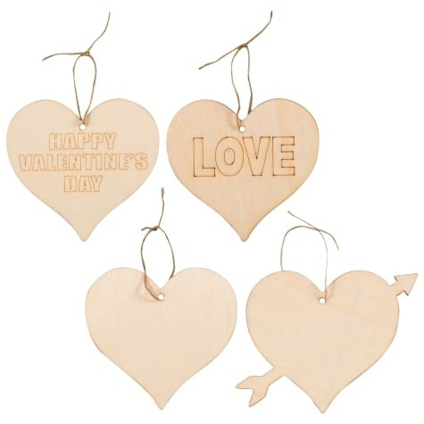 Valentine wood heart dollar tree craft