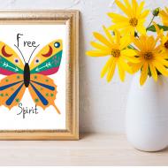 Boho free printable art