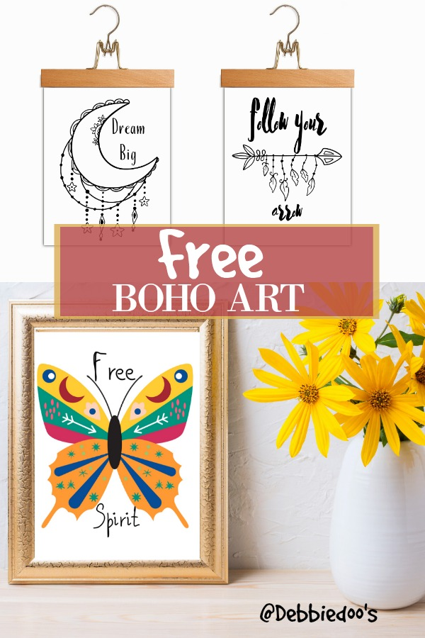 Boho art to download for free, so pretty!