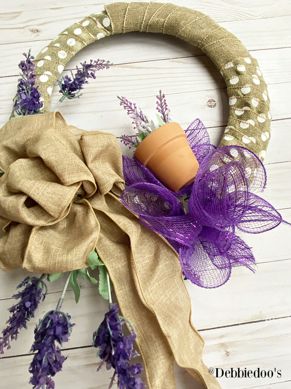 How to make a spring wreath with dollar tree supplies