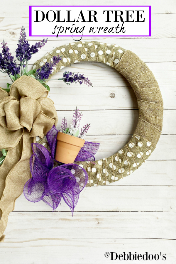 Dollar tree Spring wreath DIY
