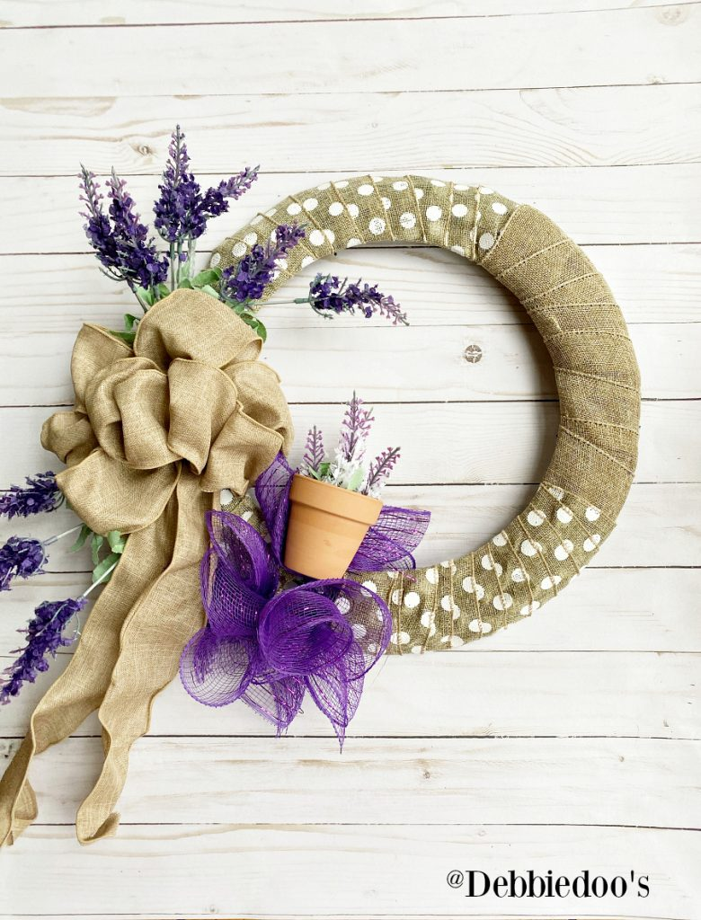 How to make a spring wreath with dollar tree
