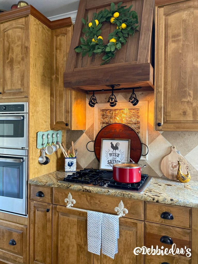 Farmhouse style kitchen that is not white