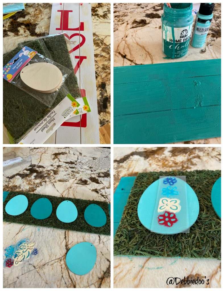 Spring crafting with Dollar tree