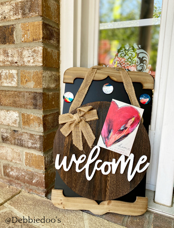 Boho welcome sign for front porch