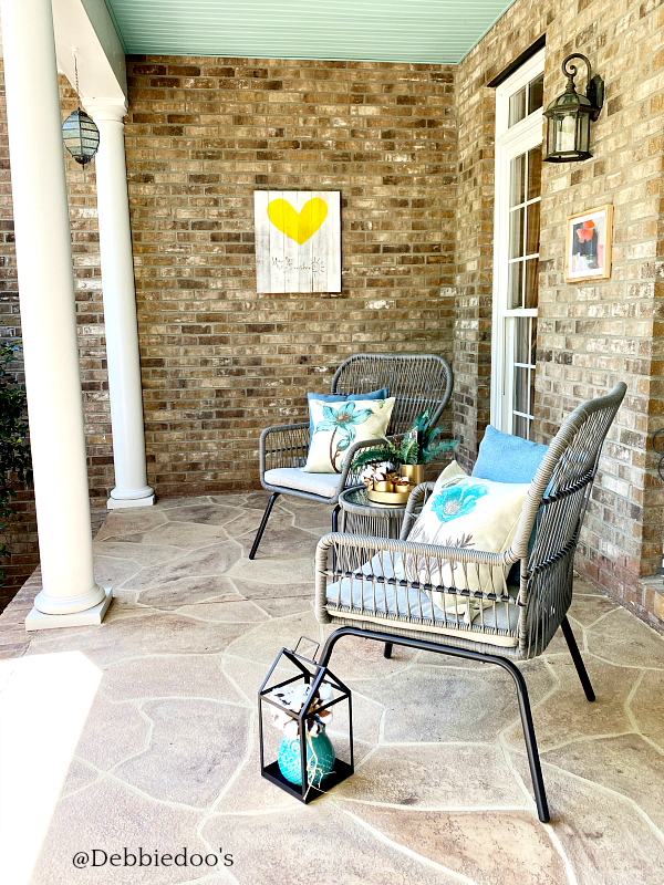 Southern porch with Boho flair