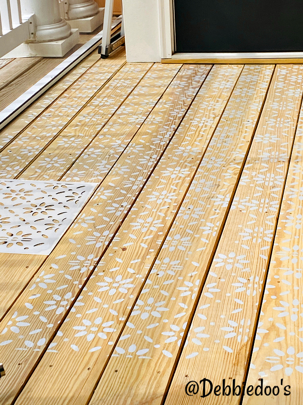 How to stencil a patio deck