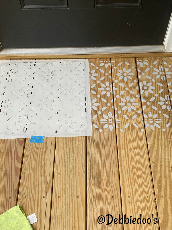 deck stencil project