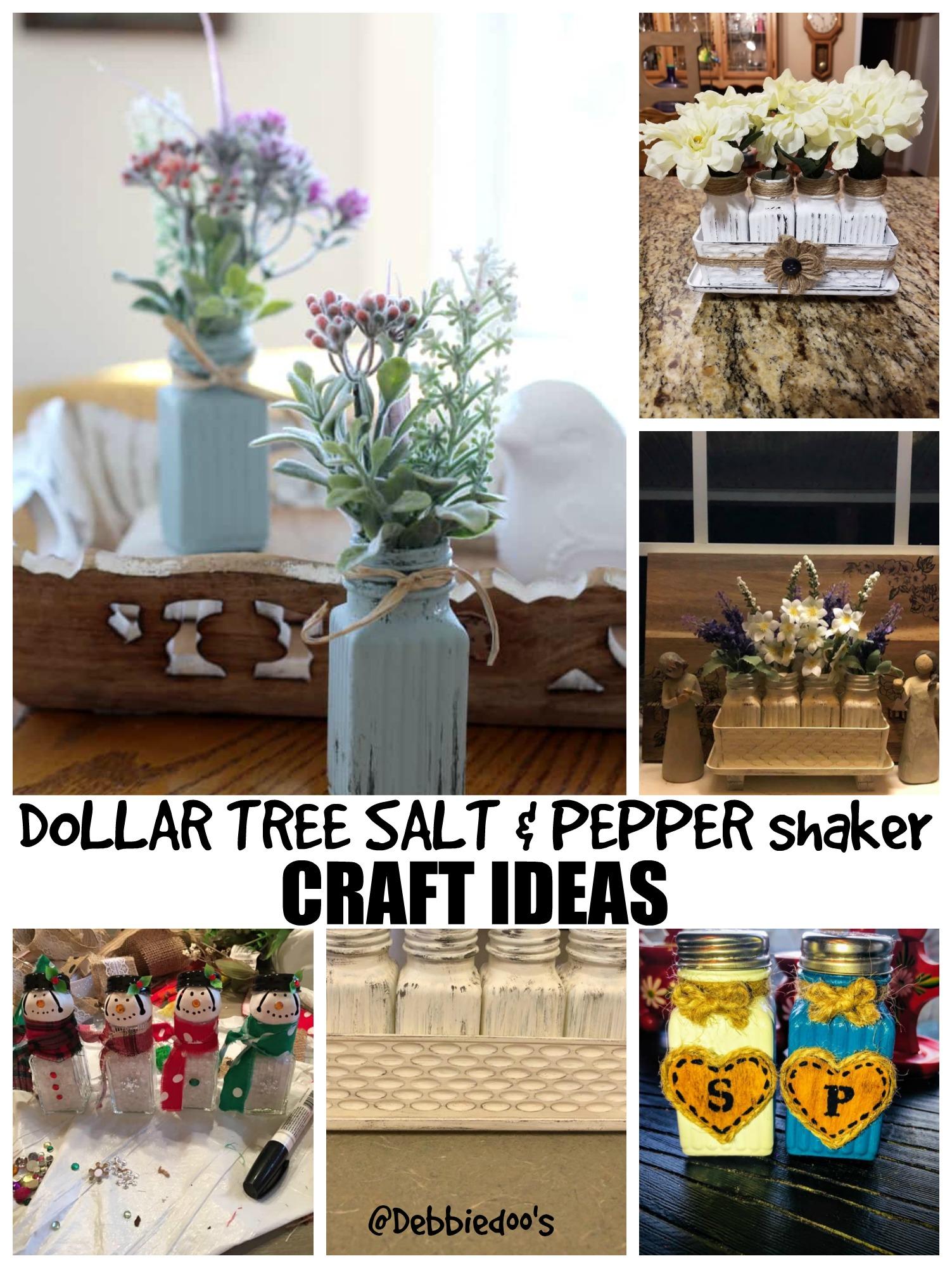 Dollar Tree Salt And Pepper Shaker Craft Ideas Debbiedoos
