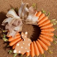 How to make a Dollar Tree Carrot Wreath