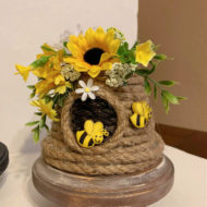 DIY-Dollar-tree-beehive-crafts