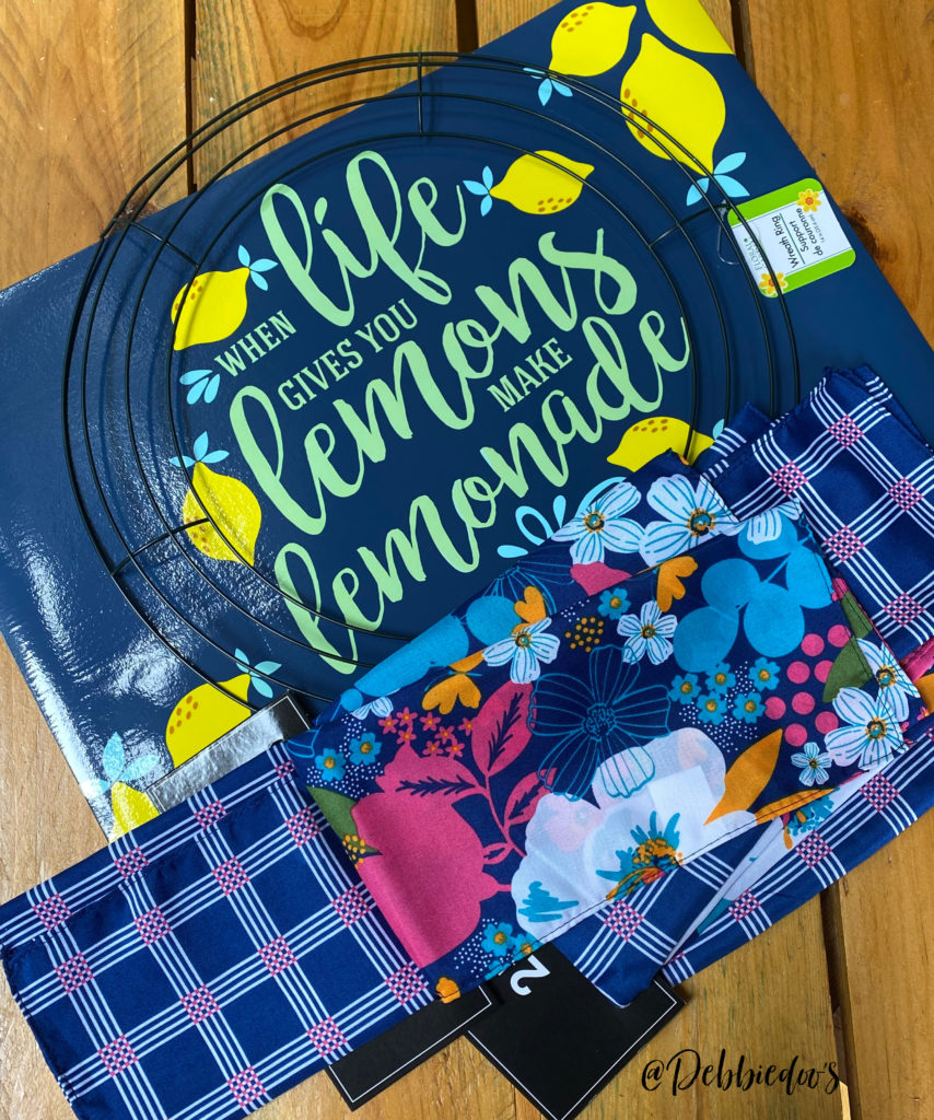 Dollar Tree Placemat Wreath/When Life Hands You Lemons