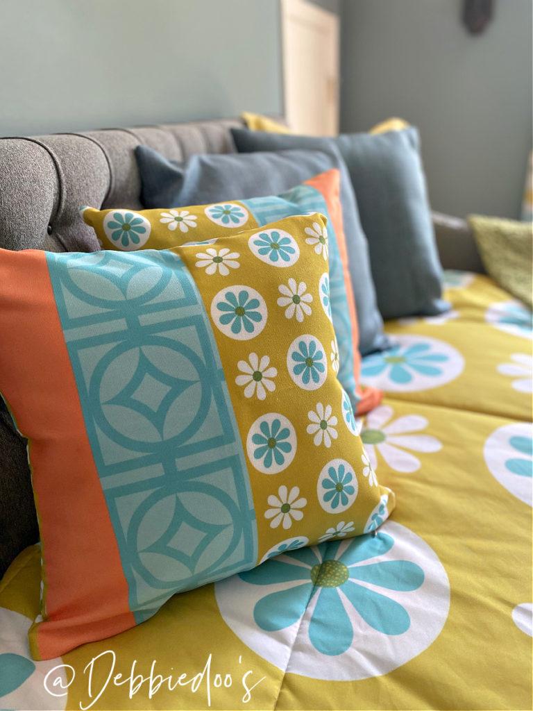 Flower Power groovy 70's pillows