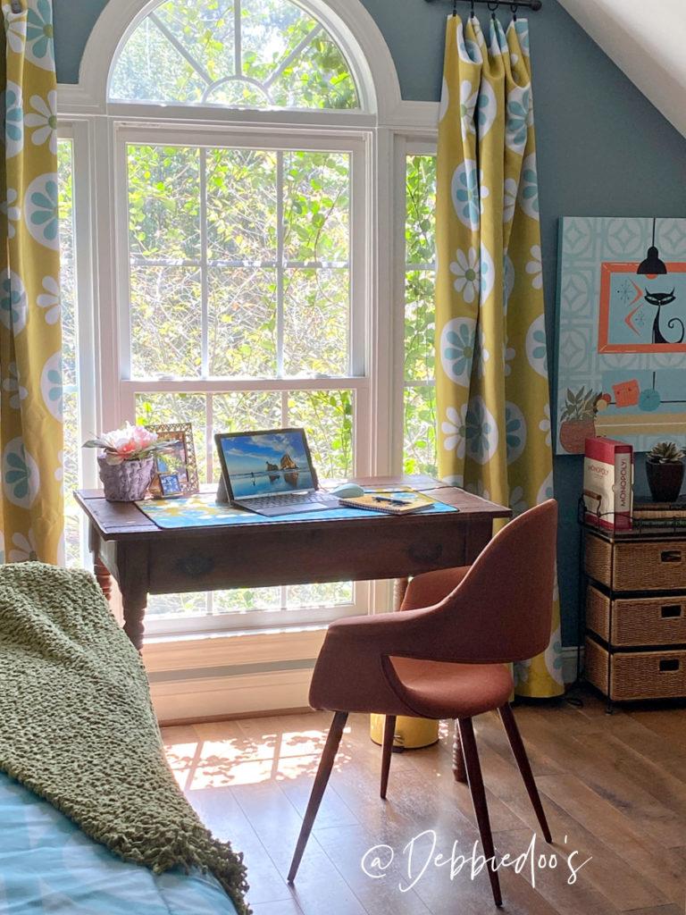 Orange Comfy Mid Century Modern Office Chair
